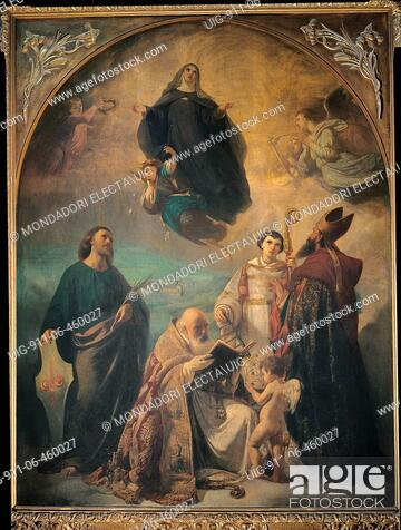 Glory of Saint Verdiana, by Annibale Gatti, 1858 - 1864, 19th Century