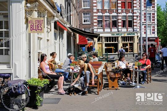 Street Cafe, Stock Photo, Picture And Rights Managed Image