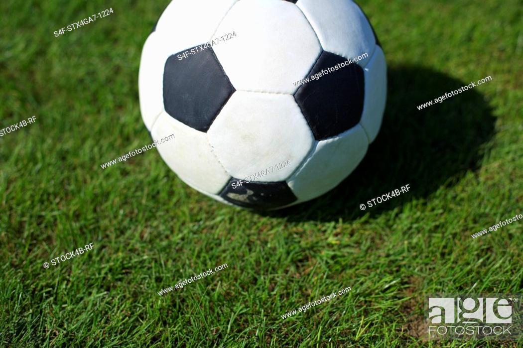 Stock Photo: Ball lying on grass.