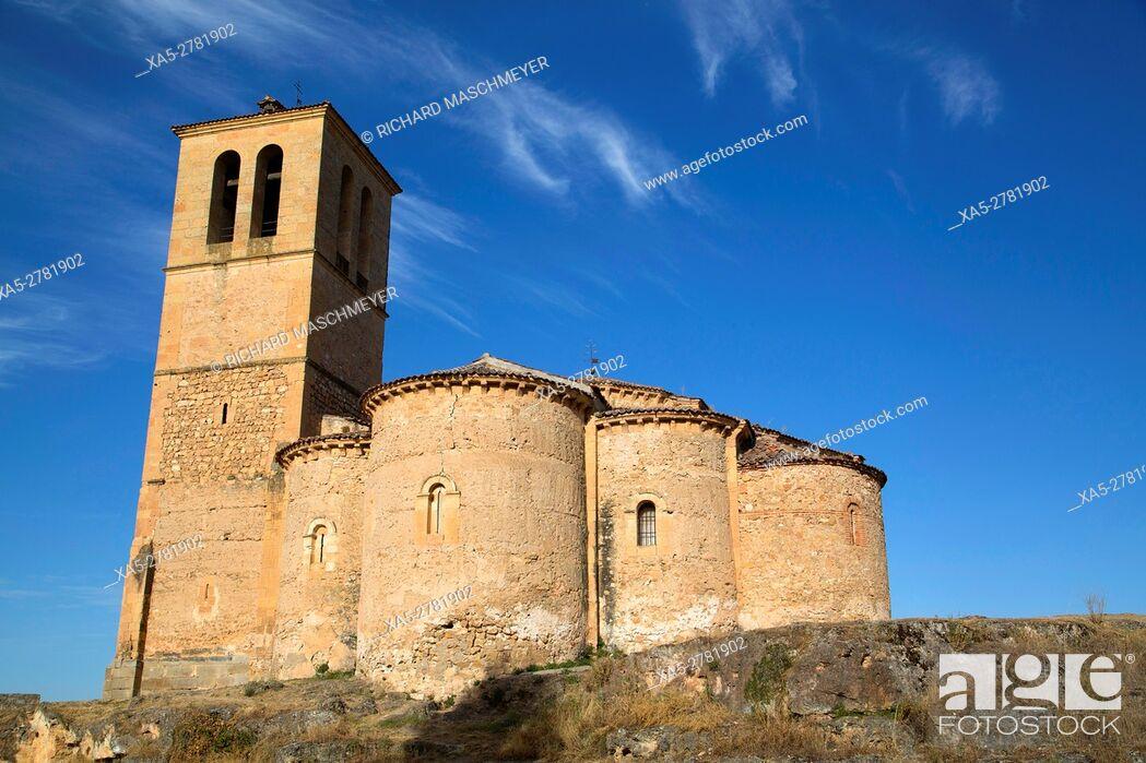 Stock Photo: La Vera Cruz Church, Segovia, UNESCO World Heritage Site, Spain.