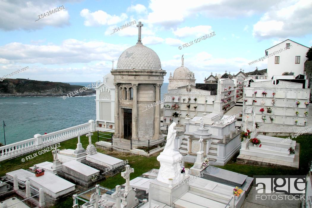 Stock Photo: Cementery of Luarca, Asturias, Spain.