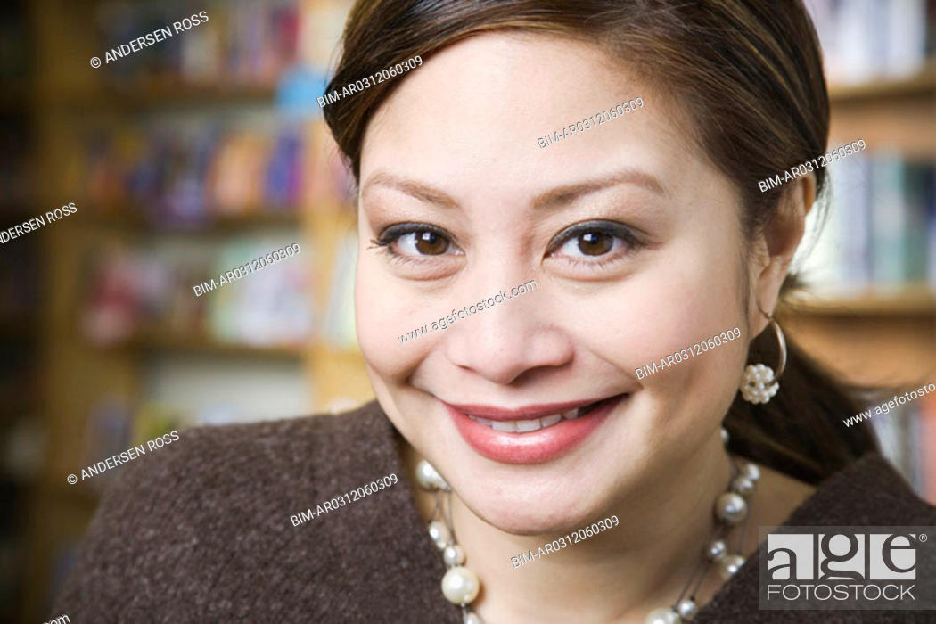 Stock Photo: Close up of woman smiling.