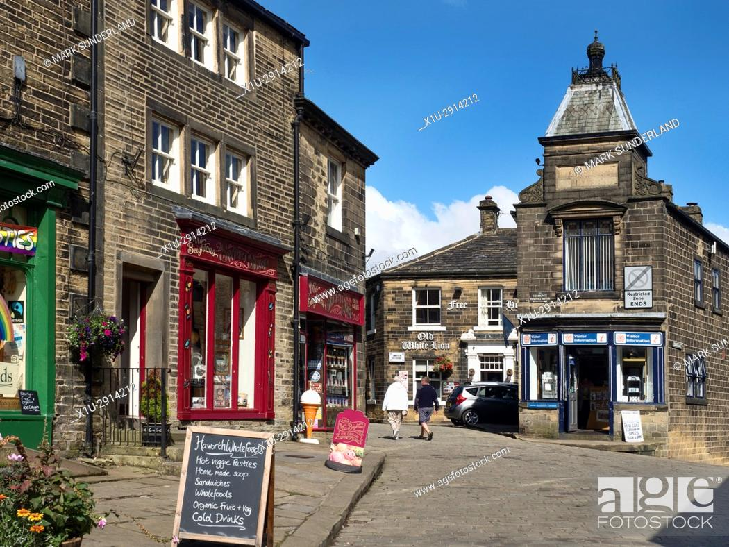 Shops and Tourist Information Centre on Main Street at Haworth West ...