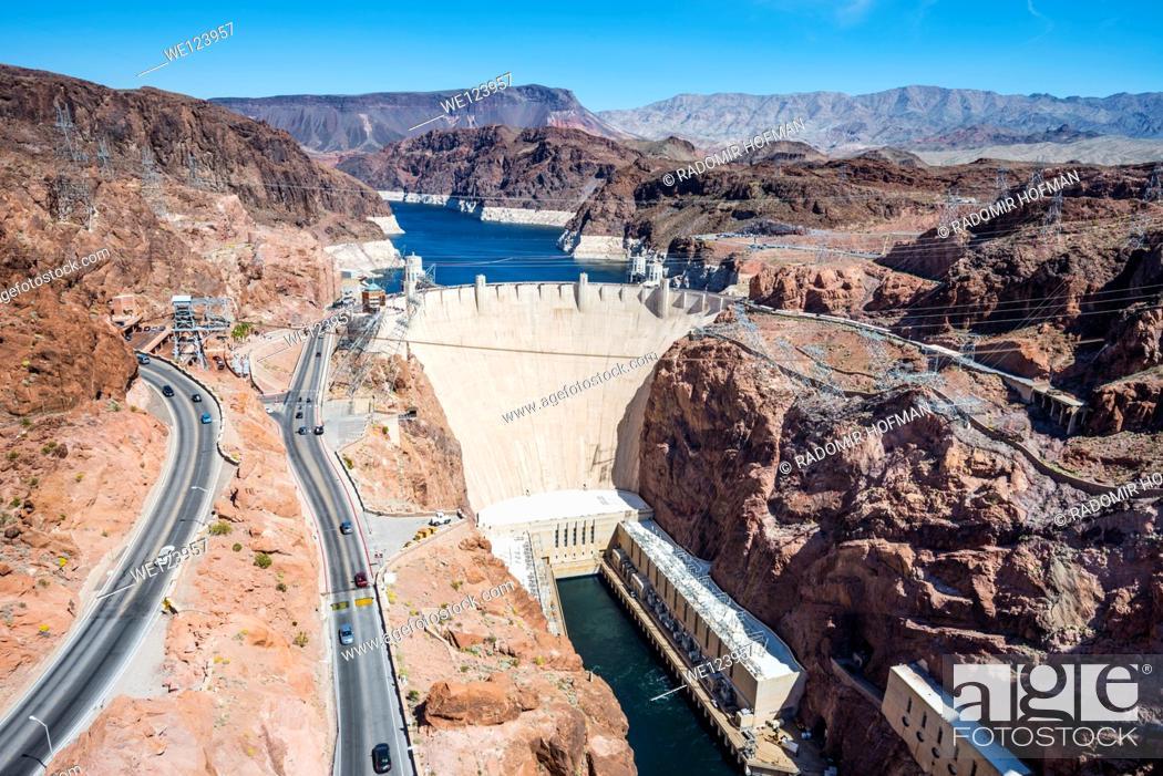 Stock Photo: Hover Dam, Arizona - Nevada.