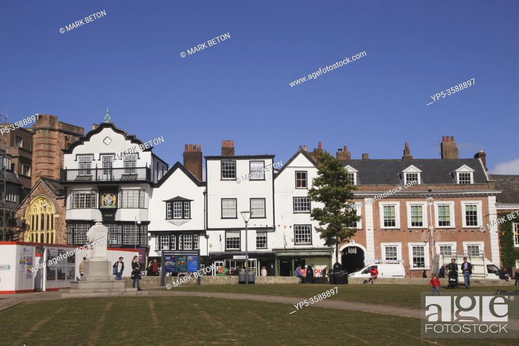 Stock Photo: Cathedral Green Exeter Devon UK.