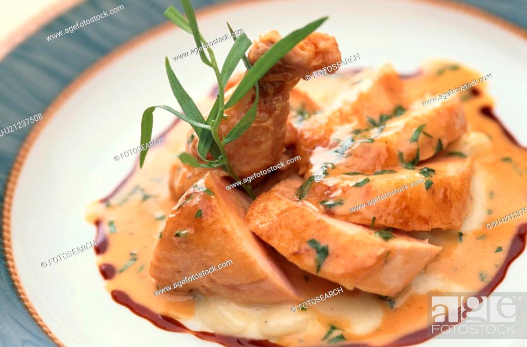 Stock Photo: Chicken And Meat Dish.