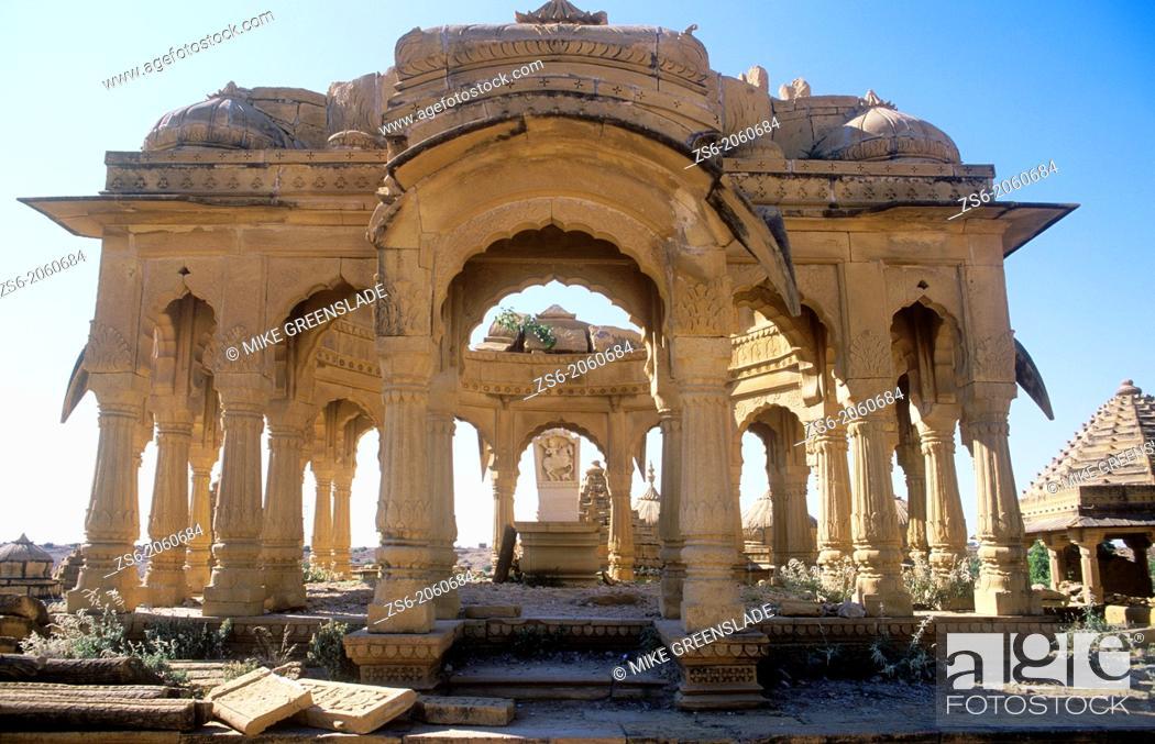 Imagen: Bada Bagh Cenotaph, Jaisalmer, Rajasthan, India.