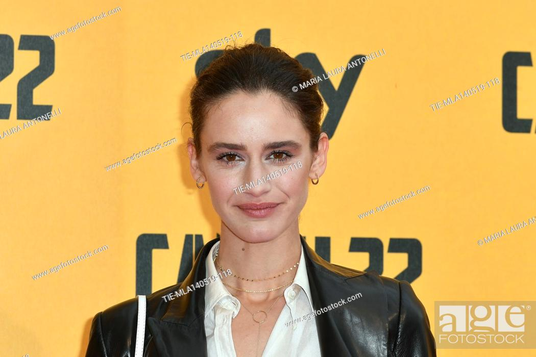 Stock Photo: Valentina Belle' during the Red carpet for the Premiere of film tv Catch-22, Rome, ITALY-13-05-2019.