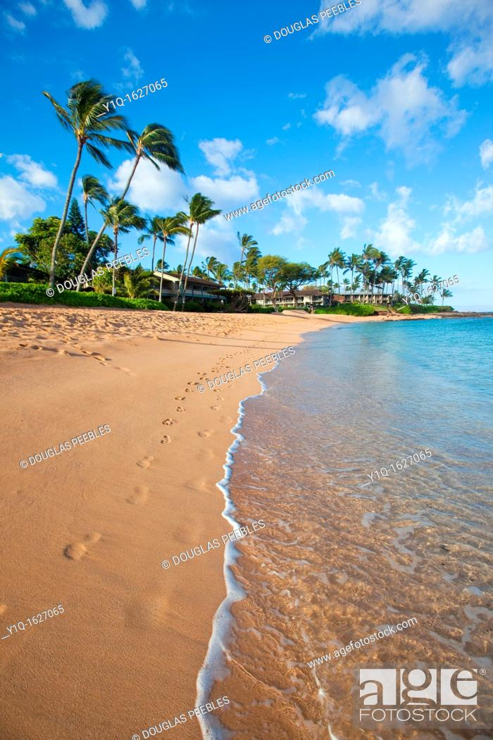 Stock Photo: Napili Bay, Maui, Hawaii.