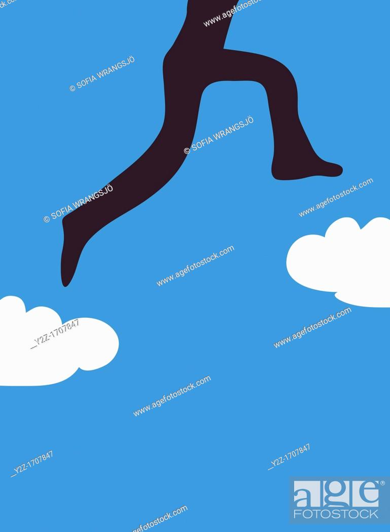 Imagen: Jumping on clouds.