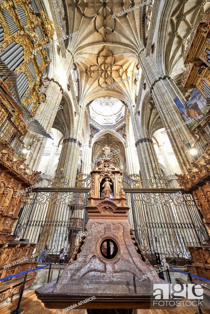 Stock Photo: New Cathedral of Salamanca, Salamanca City, Spain, Europe.