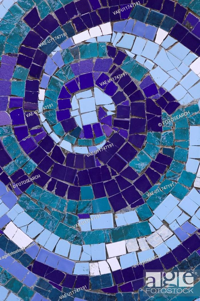 Stock Photo: Blue, Close-Up, Full Frame, Green, Mosaic.