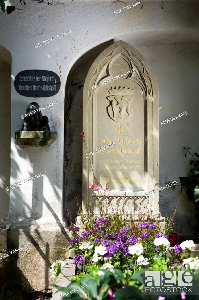 Stock Photo: Germany, Baden-Württemberg, Lake Constance-region, sea-castle, cemetery, gravesites 'Annette von Droste-Hülshoff'.