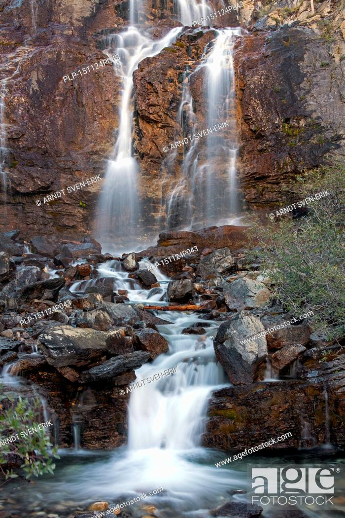 Stock Photo: Tangle Creek Falls, Jasper National Park, Alberta, Canadian Rockies, Canada.