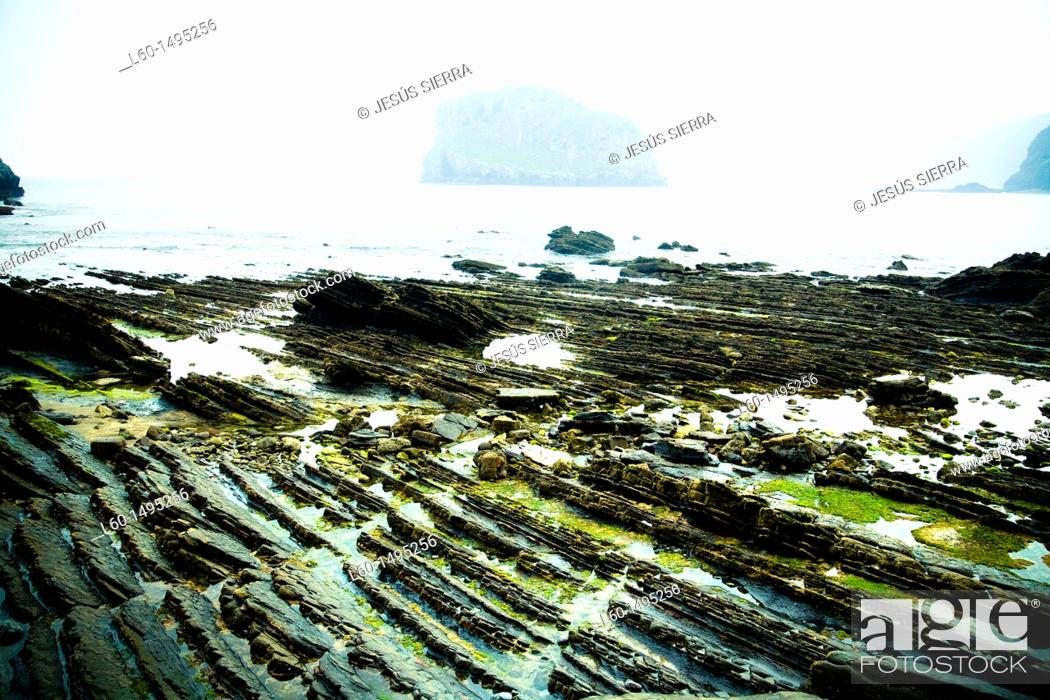 Stock Photo: Sea in Basque Country.