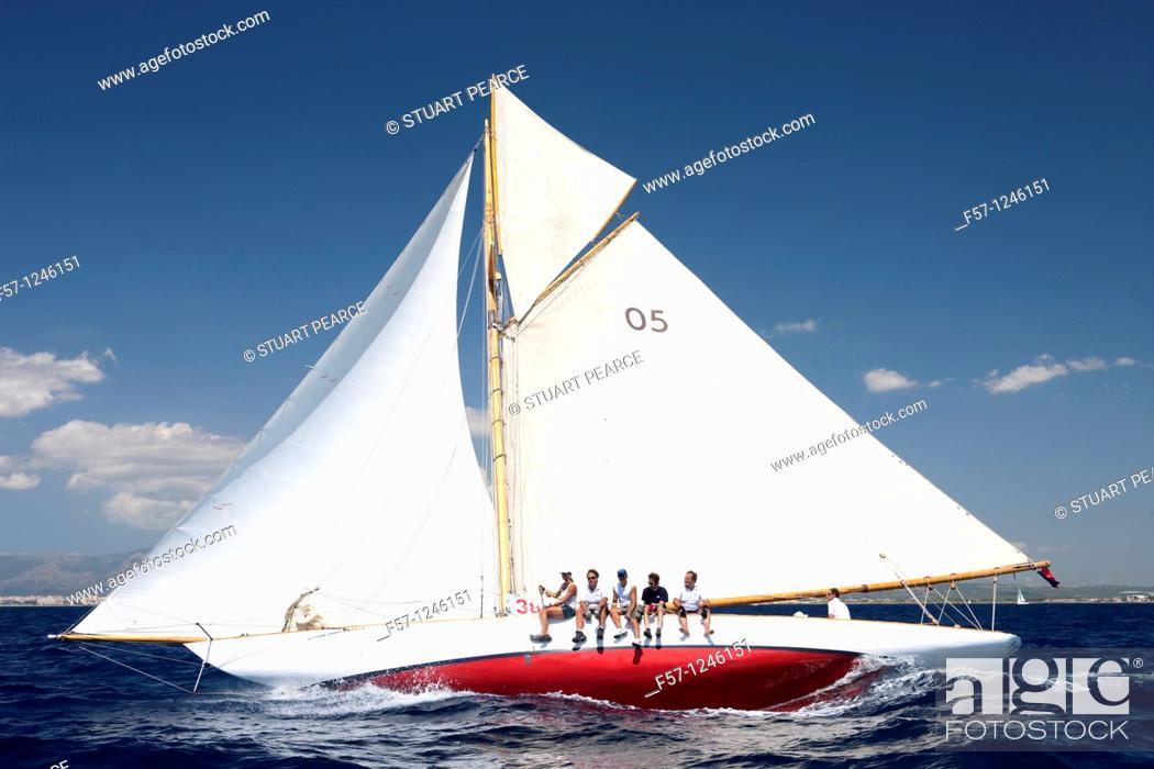 Stock Photo: Classic Yachts.