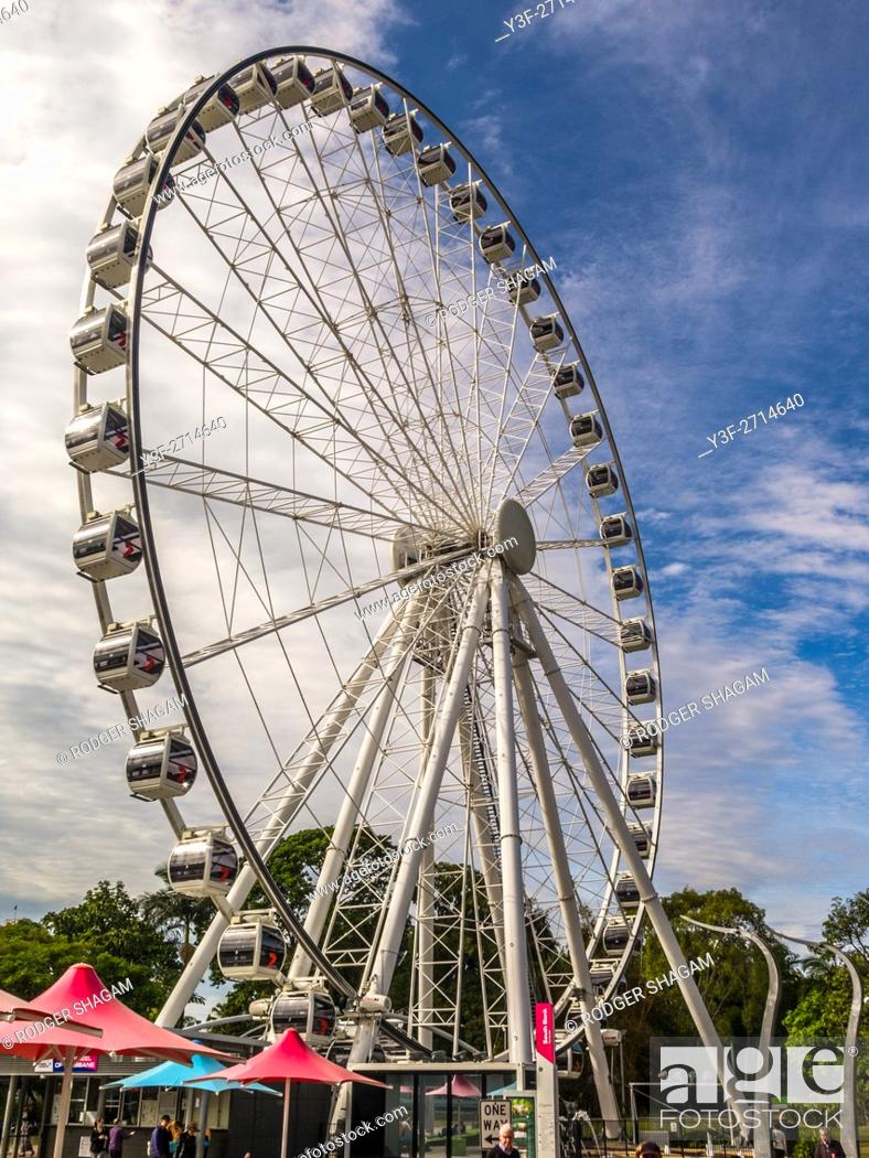 Stock Photo: Big wheel in Brisbane.
