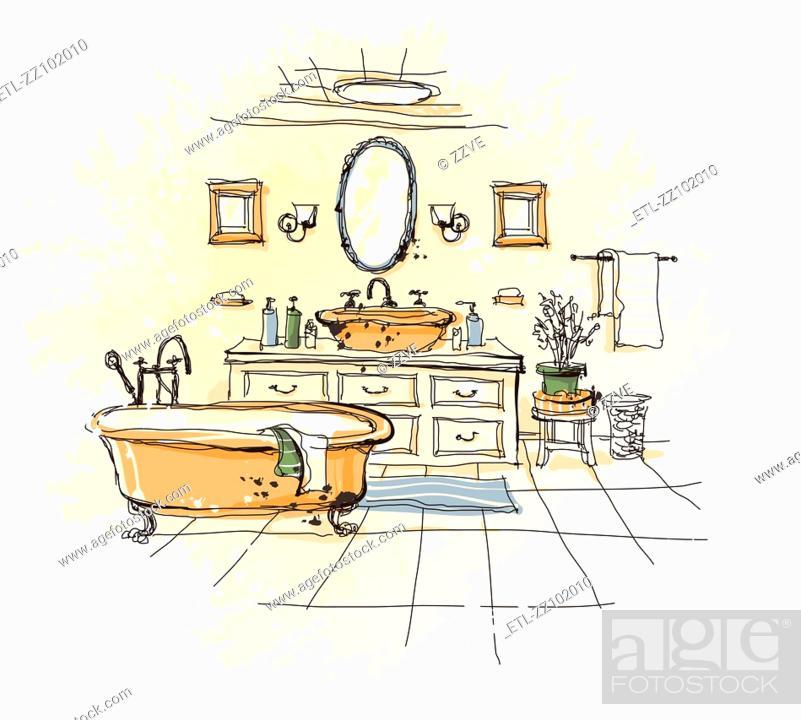 Stock Photo: Luxury Bathroom Interior.