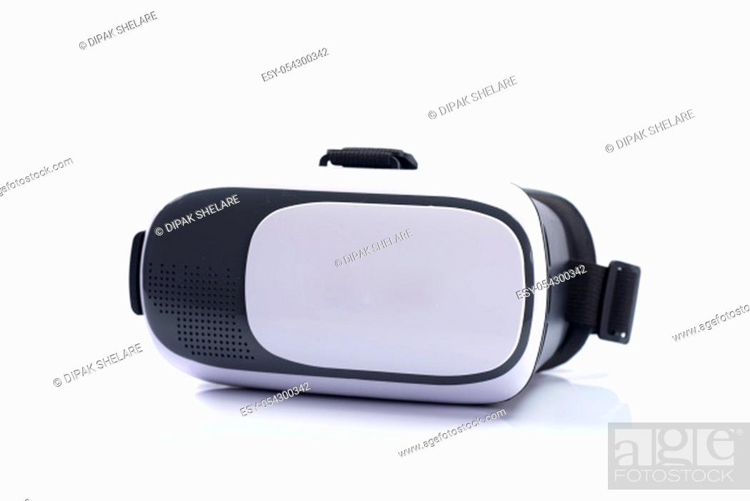 Stock Photo: VR Box / Virtual Reality glasses isolated on white background.