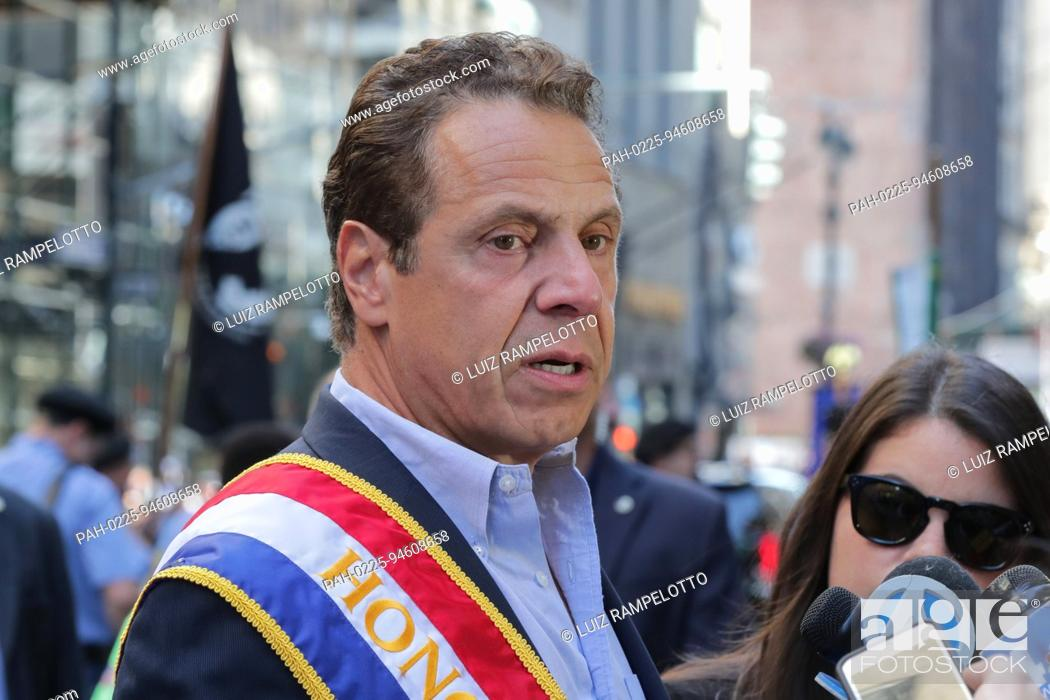Stock Photo: Fifth Avenue, New York, USA, September 09 2017 - Governor Andrew Cuomo participated on the 2017 Labor Day Parade today in New York City.