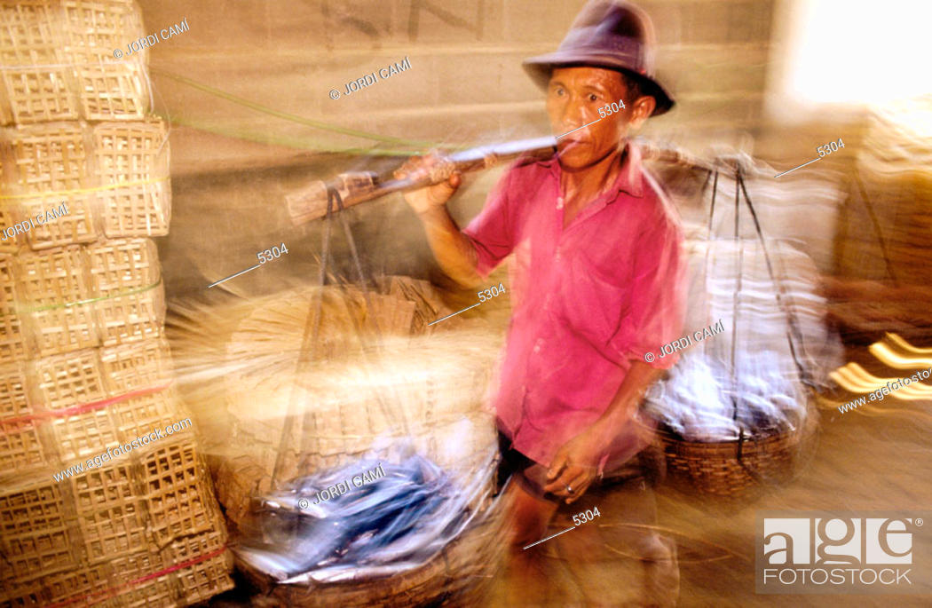 Stock Photo: Fisherman. Java. Indonesia.