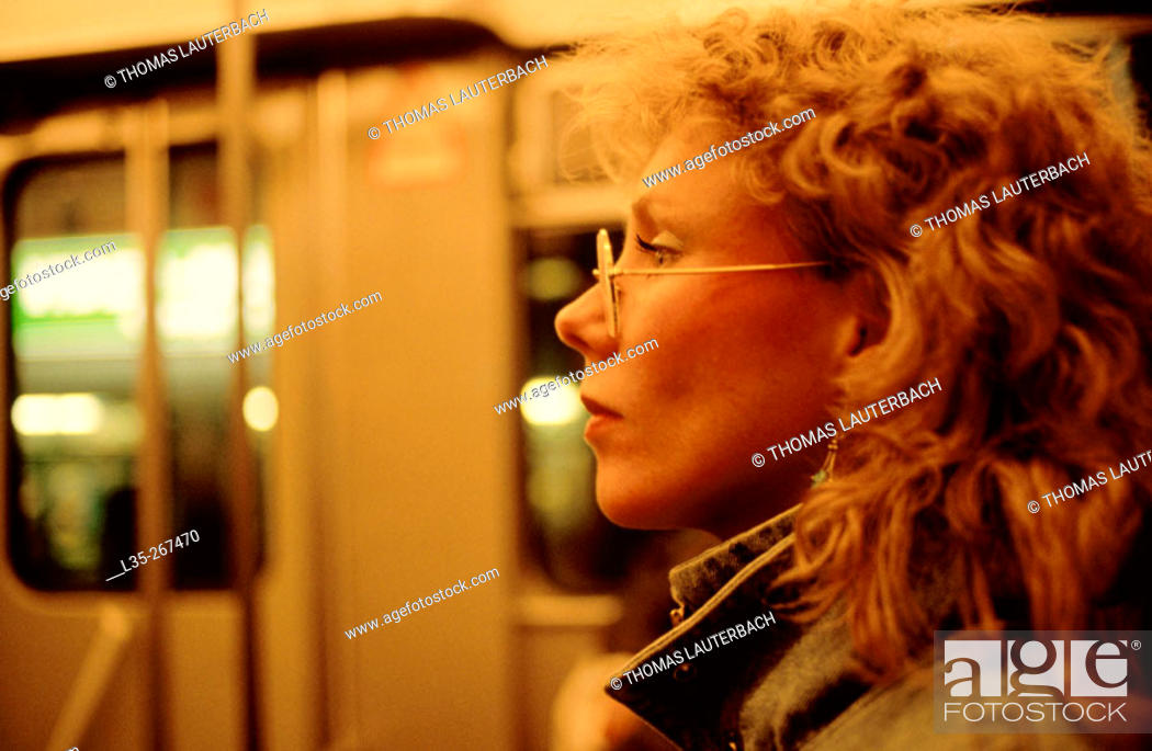 Stock Photo: Woman in subway.