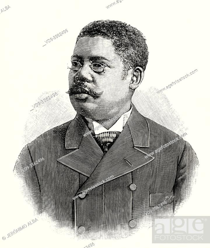 Stock Photo: Revolutionary chiefs in Cuba. Juan Gualberto Gómez Ferrer (1854 -1933) was a patriotic politician, journalist, and leader of African-American Cubans.
