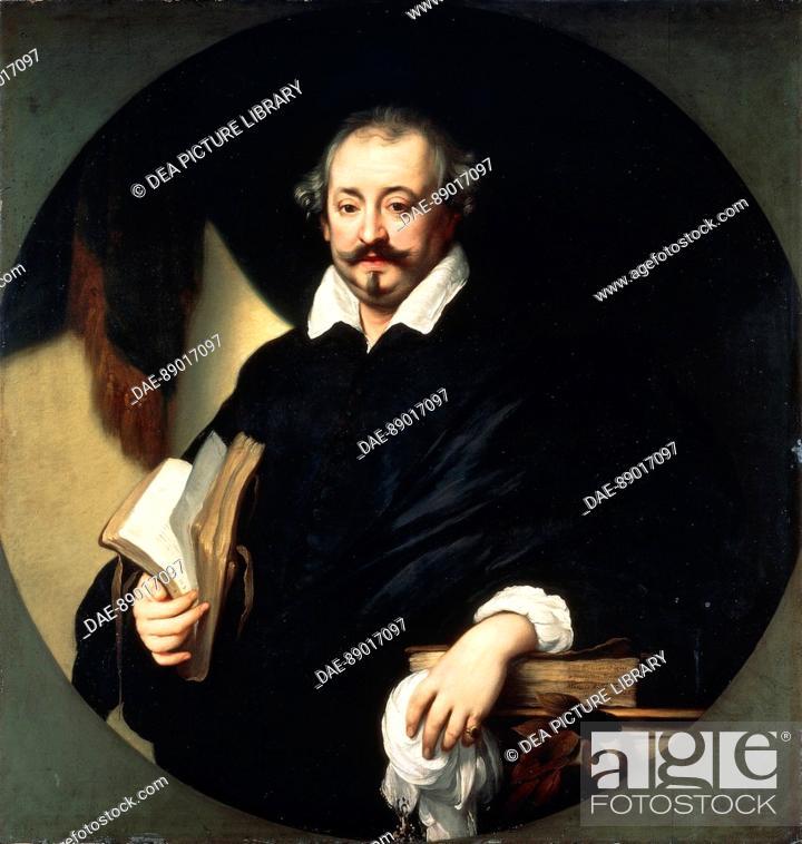 Stock Photo: Attributed to Simon Vouet (1590-1649), Portrait of Giulio Strozzi (pen-name of Luigo Zorzisto, Venice, 1583-1652), Italian librettist, poet and dramatist.