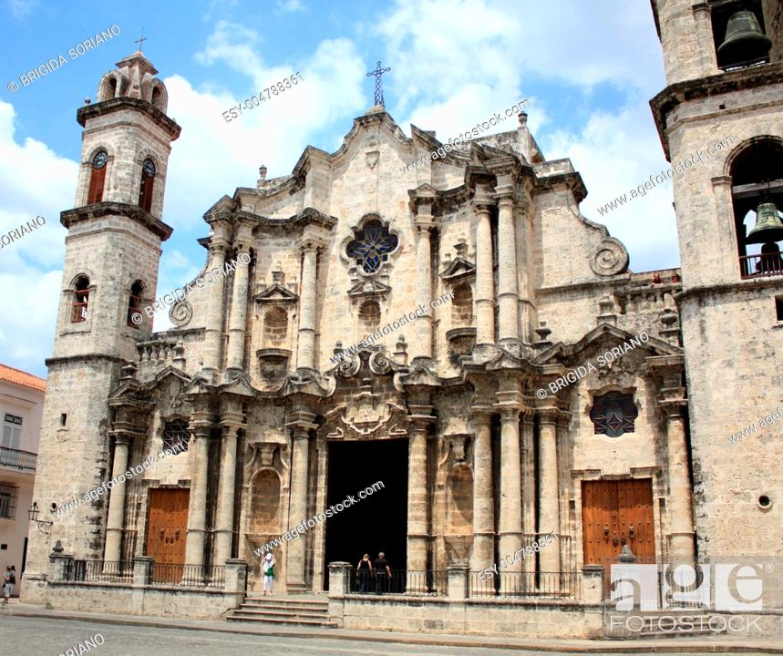 Stock Photo: Havana Cathedral, Cuba.