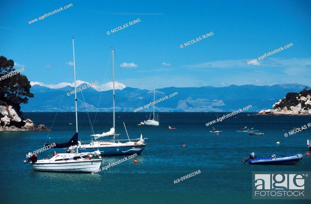 Stock Photo: New Zealand - South Island - Kaiteriteri Bay.