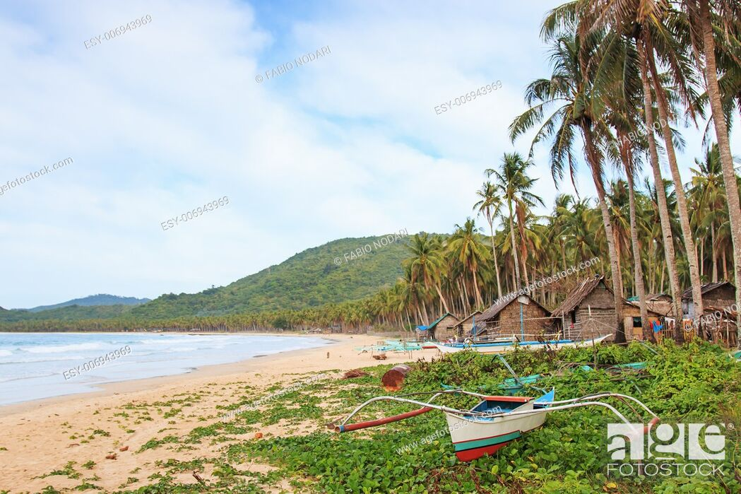 Stock Photo: Beach of Nacpan in Palawan, Philippines.