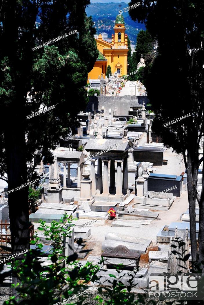 Stock Photo: Medieval cemetery n Nice, France.