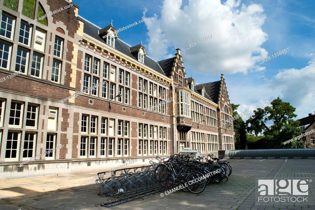 Stock Photo: 'Universiteit Maastricht' Maastricht University, Maastricht, Limburg, The Netherlands, Europe.