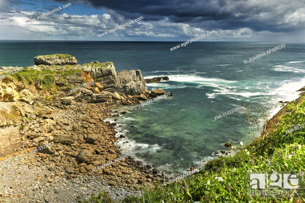 Stock Photo: Islares, Castro Urdiales, Cantabria, Spain.
