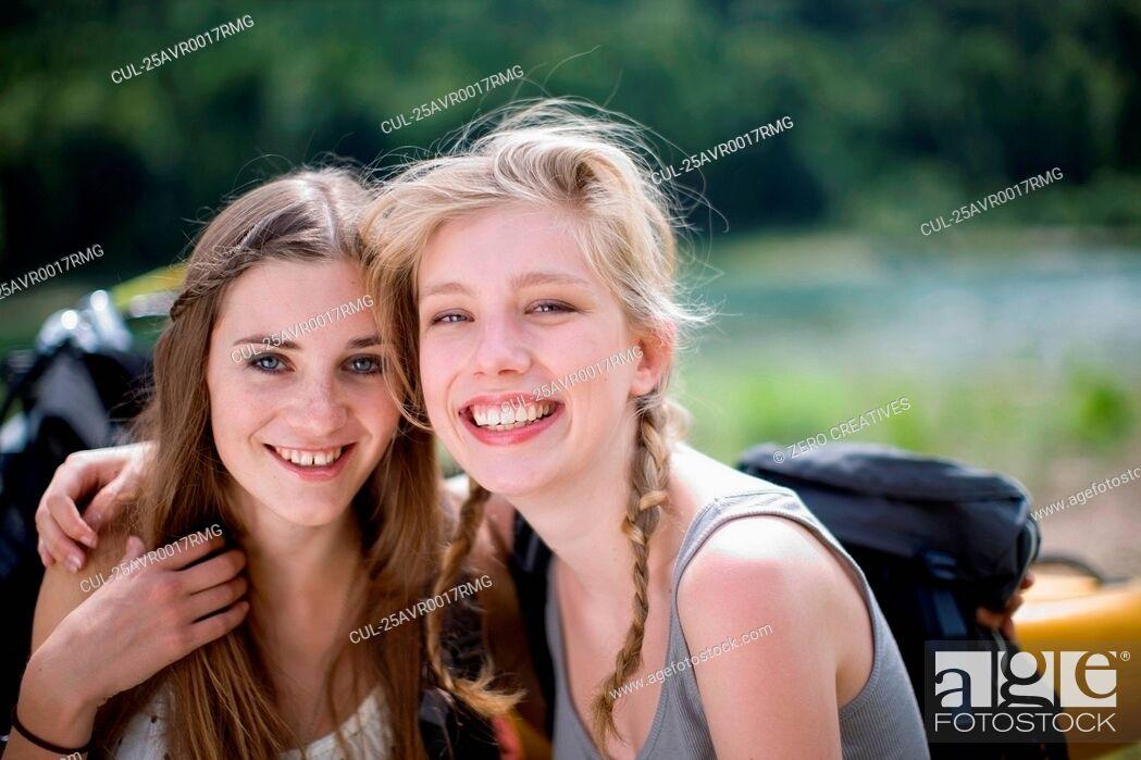 Photo de stock: Happy girls.