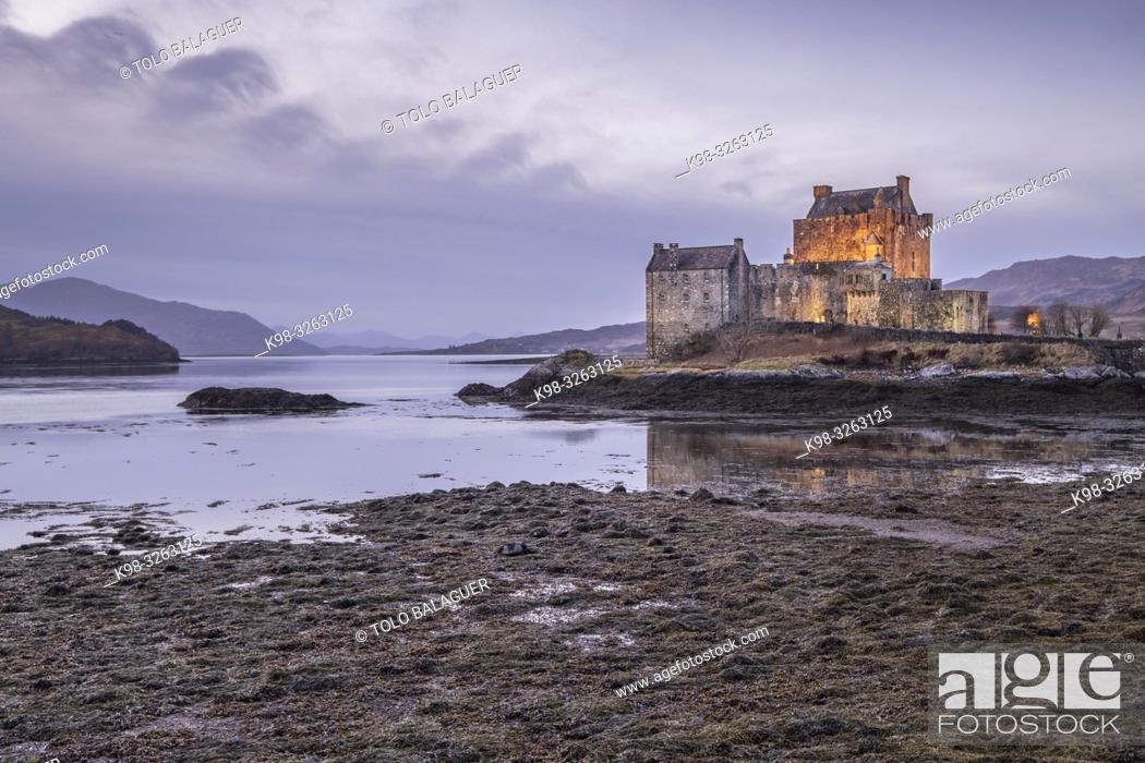 Stock Photo: Eilean Donan Castle, 13th century, Kyle of Lochalsh, Highlands, Scotland, United Kingdom.