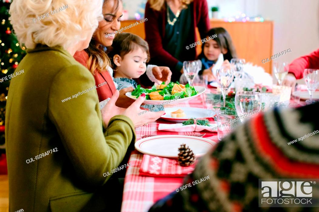 Photo de stock: Family Christmas party.