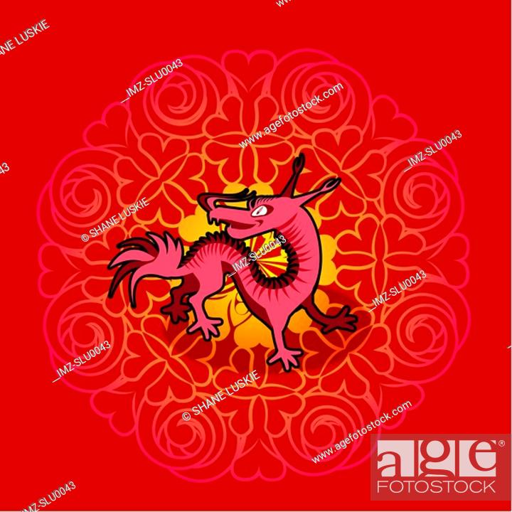 Stock Photo: Chinese new year symbol of dragon.