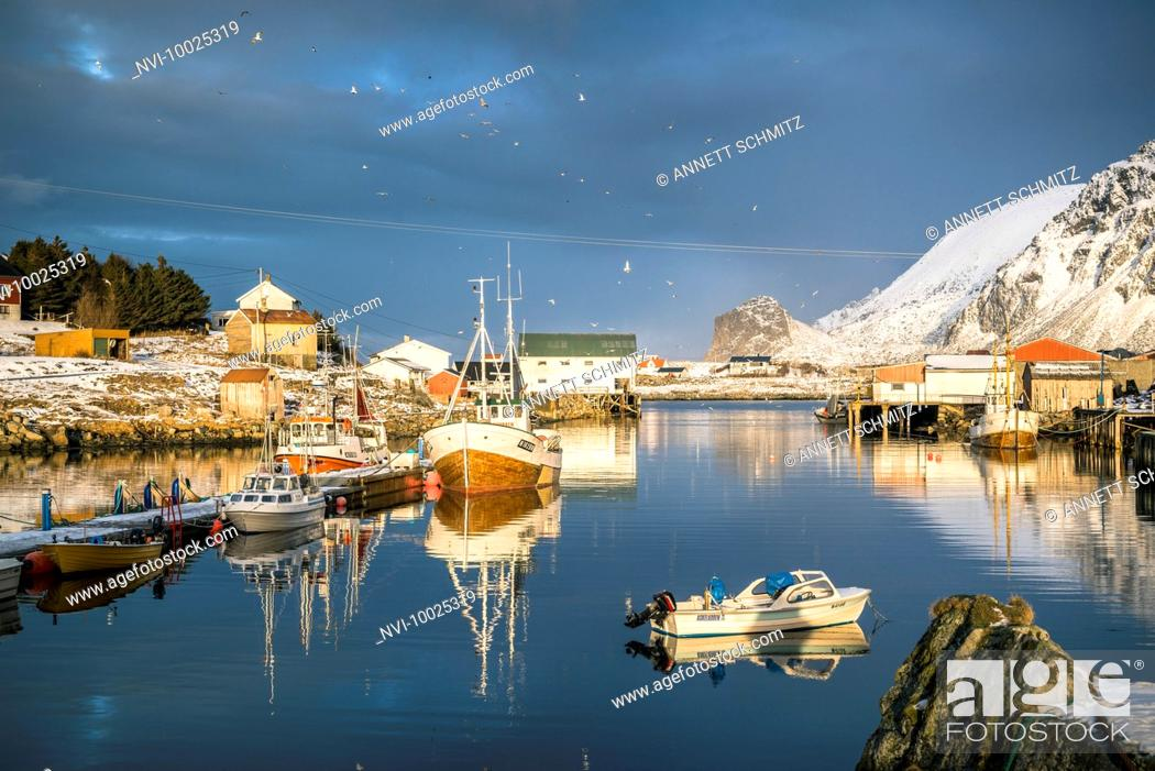 Imagen: Fishing village Nykvåg, Langøya Island, Vesterålen, Norway.