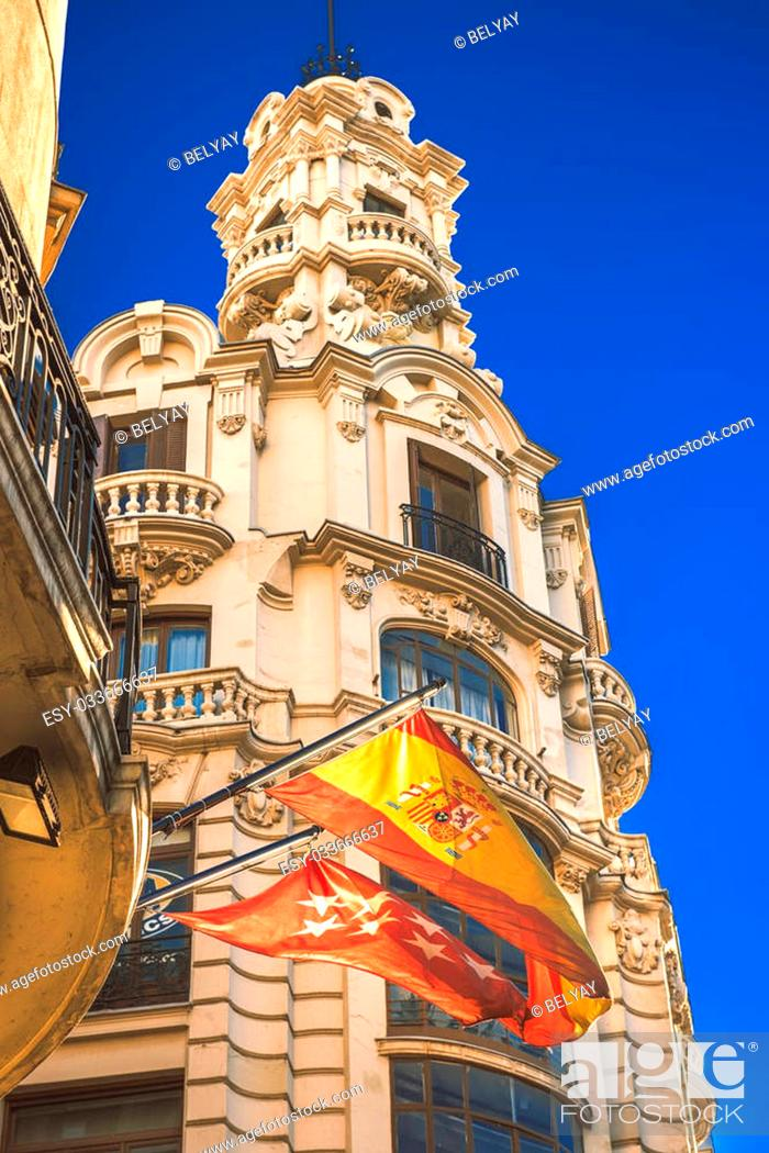 Stock Photo: Madrid city in november - shots of Spain - Travel Europe.