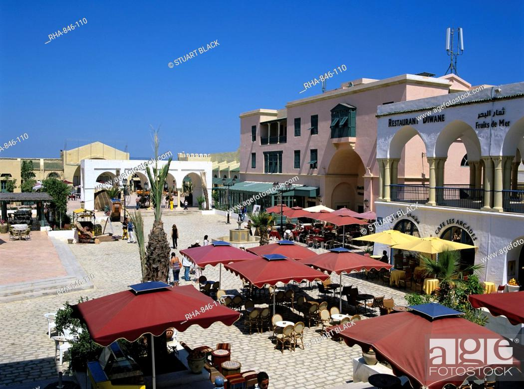 Stock Photo Restaurants Inside The Medina Yasmine Hammamet Cap Bon Tunisia North Africa