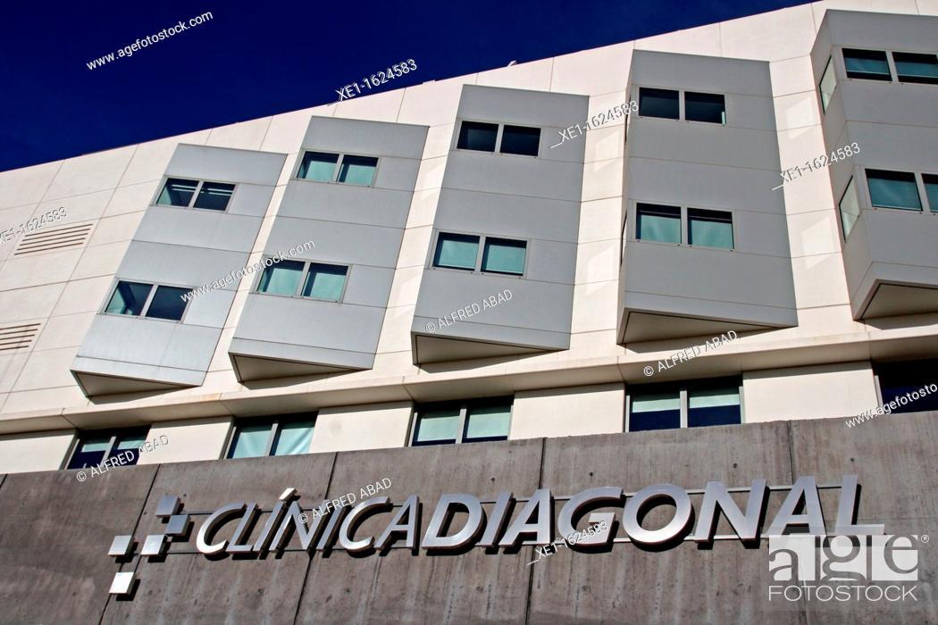 Stock Photo: Diagonal clinic, Esplugues de Llobregat, Catalonia, Spain.