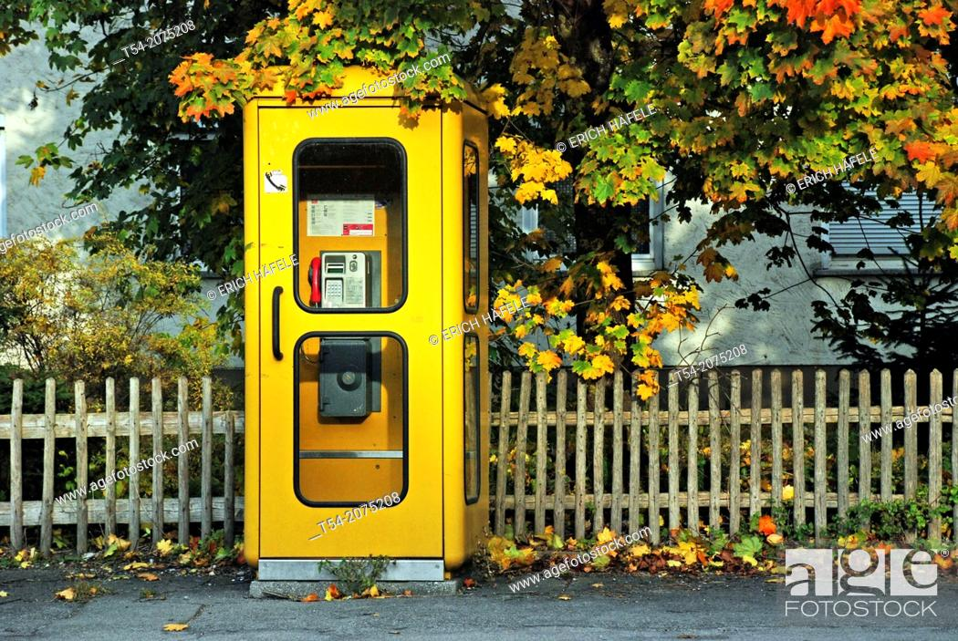 Stock Photo: Old phone booths in Germany.