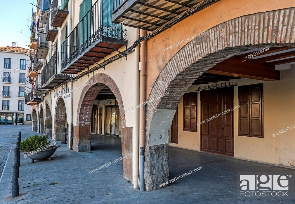 Stock Photo: Arches in Balaguer. LLeida. Spain.