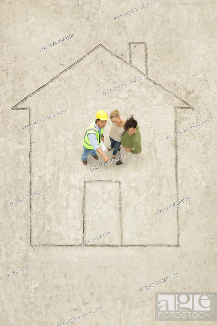 Stock Photo: Planning of a house.