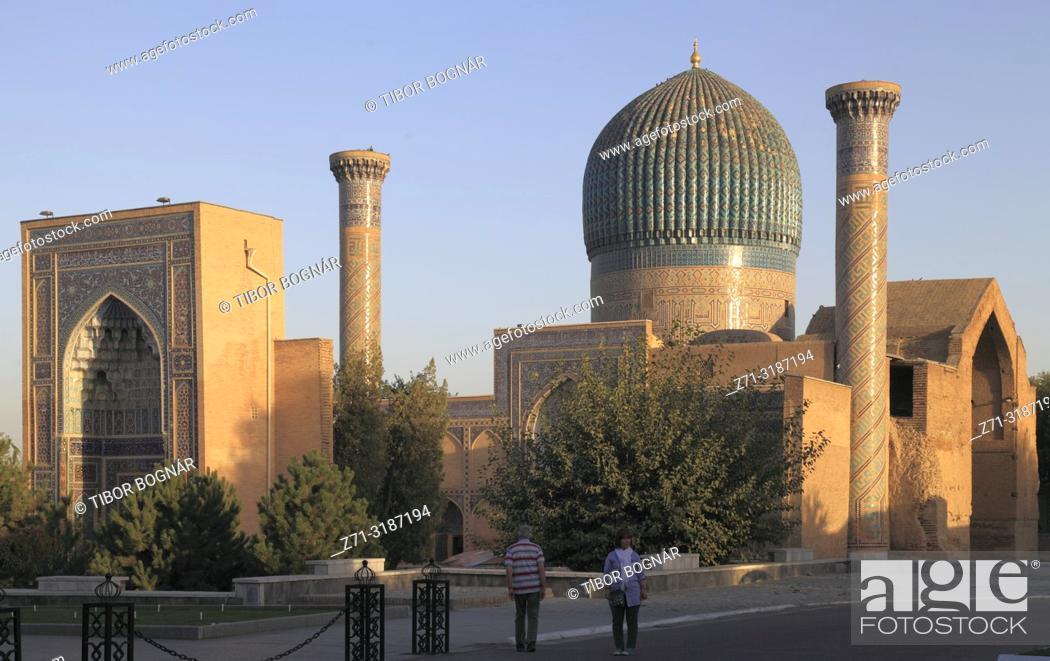 Stock Photo: Uzbekistan, Samarkand, Gur-e-Amir, Guri Amir, Mausoleum of, Tamerlane, Timur,.