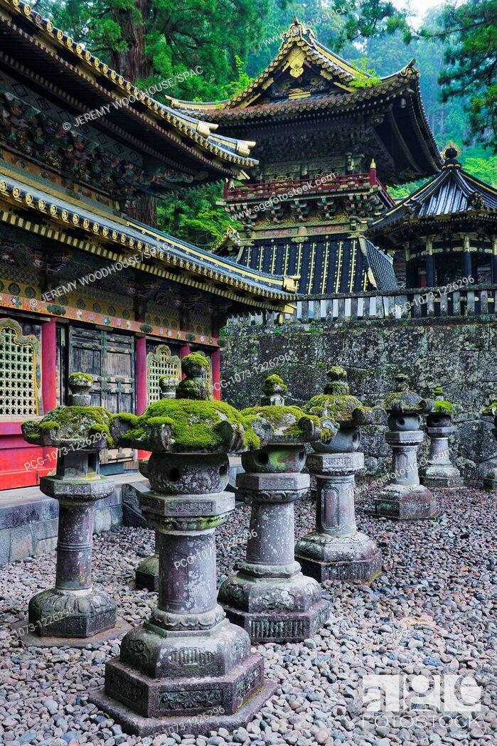 Stock Photo: Ornate Toshogu Shrine.
