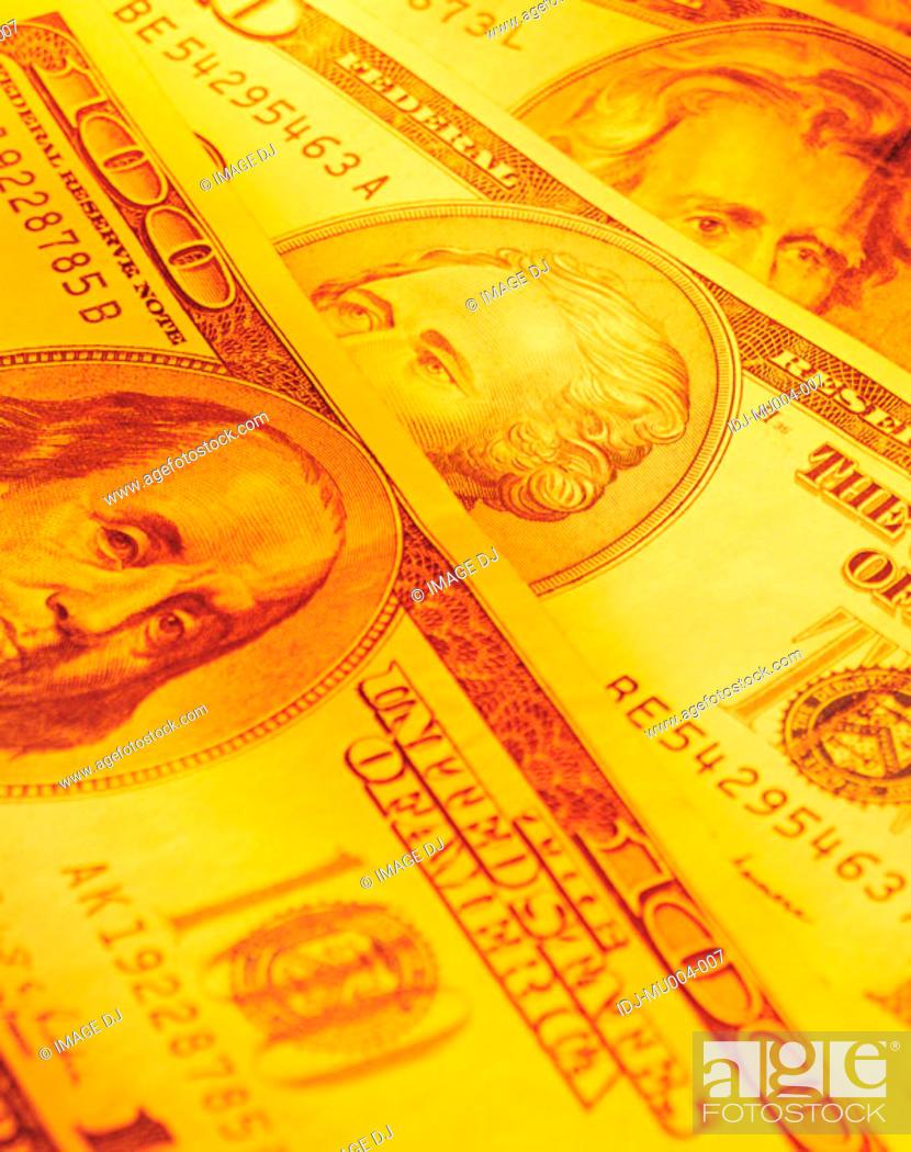 Stock Photo: Money & Gold.