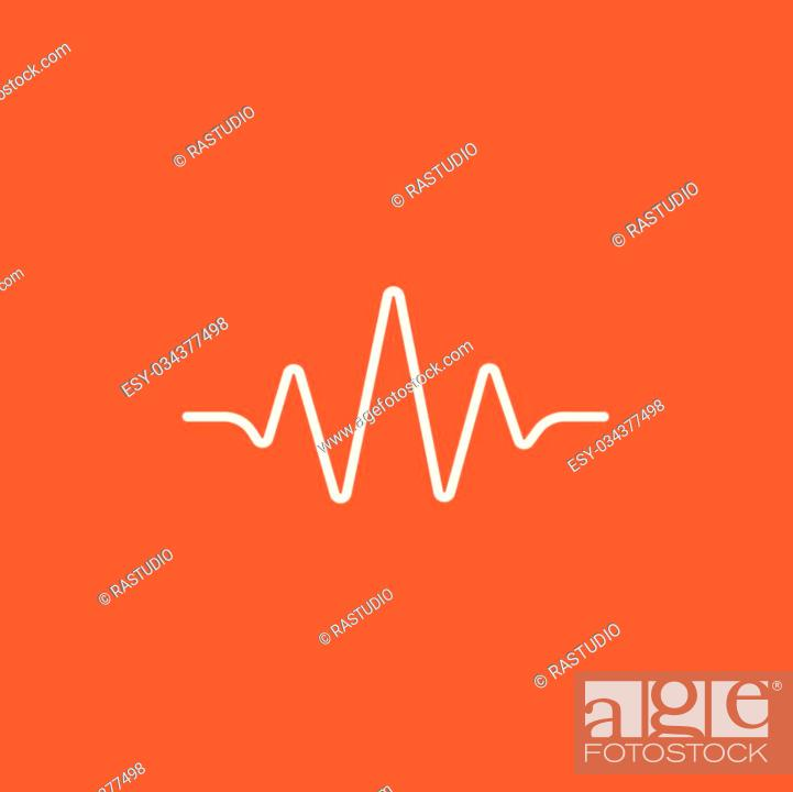 Sound wave line icon for web, mobile and infographics  Vector white