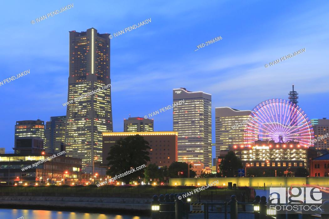 Stock Photo: Yokohama at Dusk, Japan.